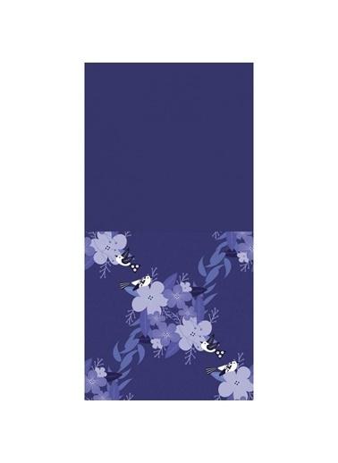 Artikel Mor Çiçekler ve Kuşlar Dekoratif Çift Taraflı Yastık Kırlent Kılıfı 45x45 cm Renkli